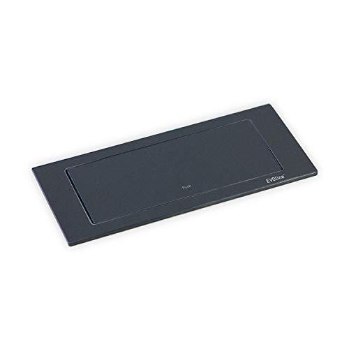 EVOline BackFlip, 180° drehbar, matt schwarz lackiert, 2-fach Steckdose + 1 USB-Charger