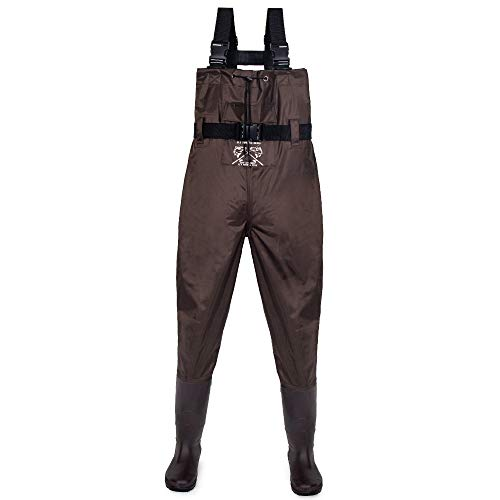 Fly Fishing Hero Fishing Waders for Men Hunting Waders for Women Breathable Waders Fishing Camo Fishing Boots Wader Pants (Coffee, 9)