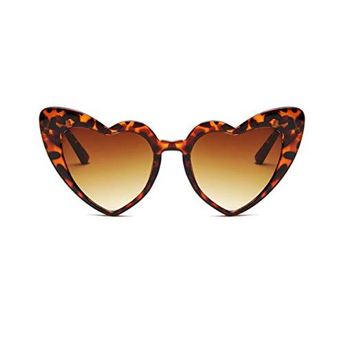 ACEHE Gafas de Sol, Gafas de Sol con Forma de corazón de Moda para Mujer, Gafas de Sol de Ojo de Gato de Lujo para Mujer, Gafas Vintage para Mujer y Hombre