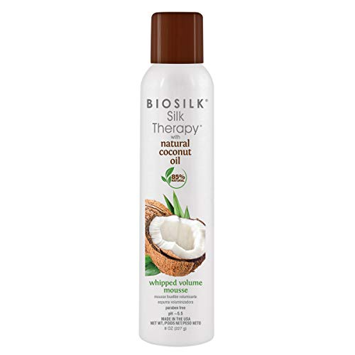 Biosilk Silk Therapy with Coconut Oil Whipped Volume Mousse - 8oz