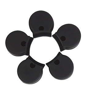 Heallily Daumenauflage für Klarinette, Gummi, Schwarz, 5 Stück