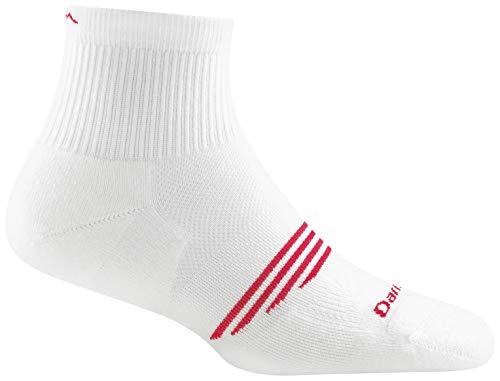Darn Tough Element Quarter Lightweight Sock with Cushion - Women's White Large