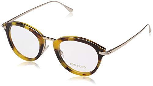 Tom Ford Unisex volwassene Ft5497 brilmontuur, bruin (AVANA COLORATA), 48