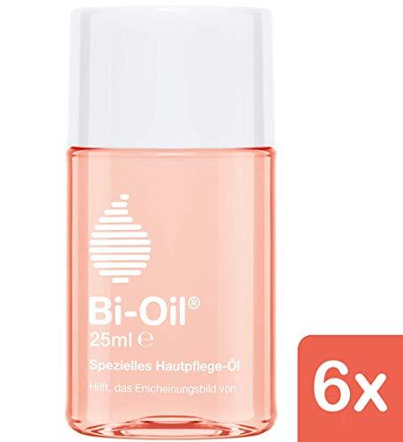 Bi-Oil Hautpflege-Öl , Spezielles Pflegeprodukt für Narben & Dehnungsstreifen (6x 25 ml)