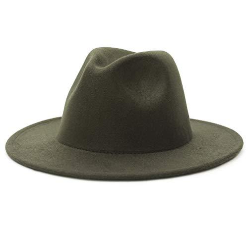 GEMVIE Vintage Panamá Sombrero Hombre Mujer Unisex ala Ancha Fedora Algodón Clásico Jazz