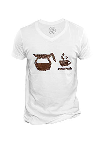 Fabulous T-Shirt Homme Col V Tasse Cafetiere Cafe Art Work Graine de Cafe