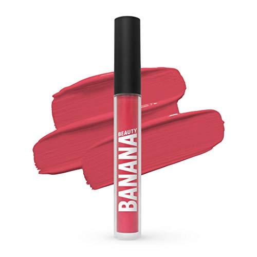 Banana Beauty Oh-La-Licious (3 ml) – Semi Matte Liquid Lipstick – kussechter Lippenstift matt für volle Lippen – langanhaltender Lipgloss matt – knalliges Pink