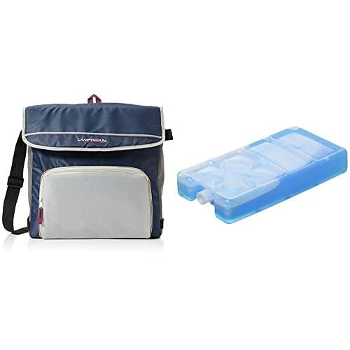 Campingaz Kühltasche Fold N Cool Nevera Flexible, 20 L, Unisex, Azul Marino/Gris + Pastilla Congelable, Adultos Unisex, Azul, 15 X 7.5 X 3.5 Cm