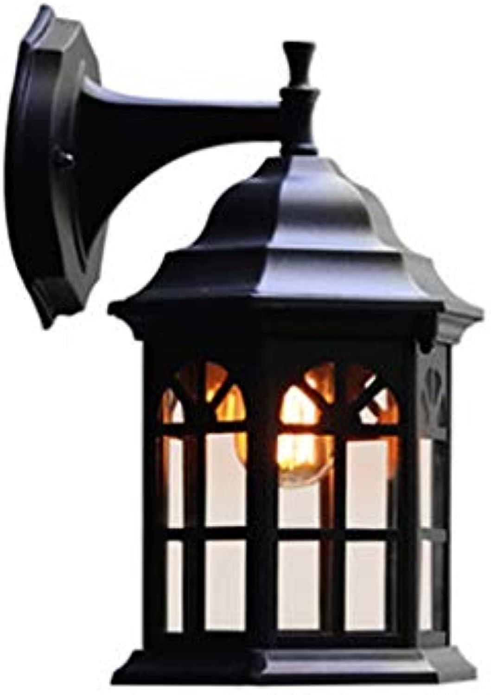 QZz Outdoor Wandleuchte Wasserdichte Outdoor Wandleuchte gartenlampe Flur Gang Wandleuchte Sicherheit energiesparende Wandleuchte licht steuereinrichtung auenleuchte Auenwandleuchten (Farbe   B)