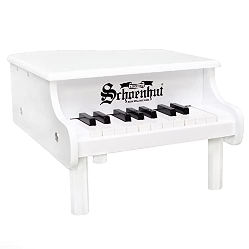 Schoenhut Mini Grand Piano - 18 Keys Mini Keyboard Piano - Toddler Musical Instruments Promotes Hand-Eye Coordination - Kids Piano Keyboard with Chromatically Tuned Baby Keys - Piano for Toddlers