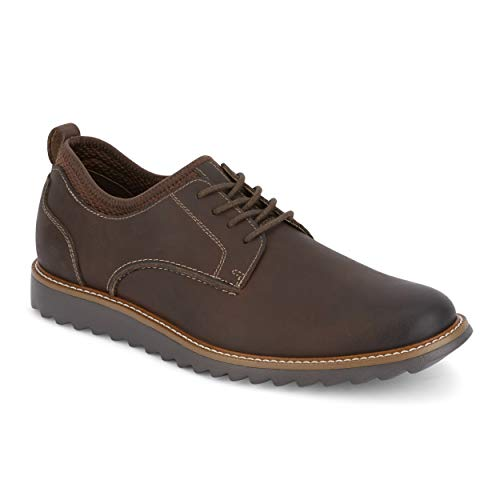 Dockers Mens Elon Leather Smart Series Dress Casual Oxford Shoe, Red Brown, 8.5 M