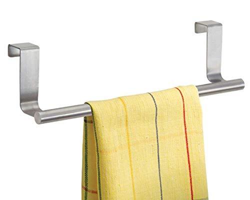 Jeffyo - Toallero para armario con gancho para colgar encima de la puerta, toalla de cocina, cajón de baño S