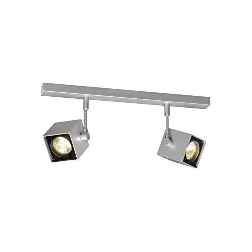 SLV Spot LED ALTRA DICE Orientable et Inclinable   applique et Plafonnier Variable pour Eclairage Intérieur, Spot LED   Projecteur de Plafond, Lampes de Plafond, Lampe Murale, 2 Lampes   GU10, E-A++