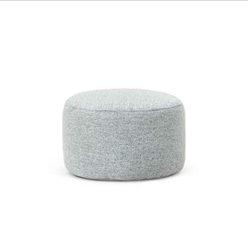 LONGSAND Pouf 37x37x24cm Ottomans Round Foot Rest Stool Soft Shoe Changing Stool Bed Stool Yoga Pillow Cushion for Garden Patio Living Room Bedroom Kids Room Indoor Outdoor,Gray