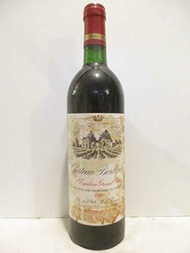 saint-émilion château berliquet grand cru (étiquette tâchée) rouge 1981 - bordeaux