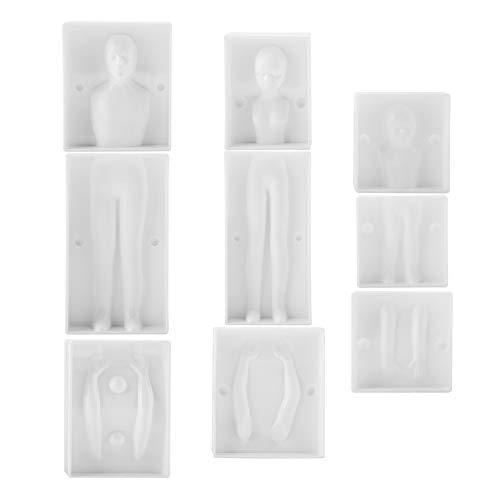 Molde para hornear, conjunto familiar en forma de personas en 3D de Delaman, moldes para pasteles con fondant, moldes para decoración para hornear y pasteles DIY