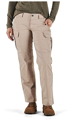5.11 Tactical Women's Stryke Covert Cargo Pants, Stretchable, Gusseted Construction, Style 64386, Khaki, 8 Long
