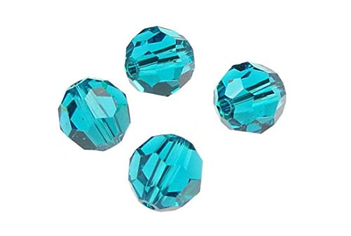 50pcs SWA2Rovski 8mm #5000 Round Blue Zircon Crystal Beads for Jewelry Craft Making (December Birthstone) SWA2R814