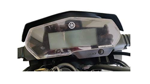 Mototrendz Speedometer Protector for Yamaha Fz25 | Clear White | Made in India