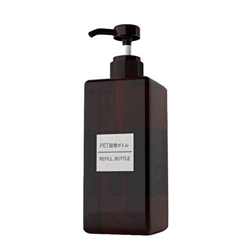 Bouteilles de pompe en plastique vides rechargeables avec pompe noire Shampoing supérieur Gel douche Conteneurs de stockage Distributeurs pour maquillage Articles de toilette Liquide