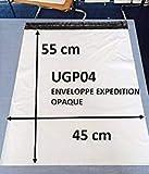 Lot de 50 Enveloppes plastique blanches opaques 450 x 550 mm,pochettes d'expédition...