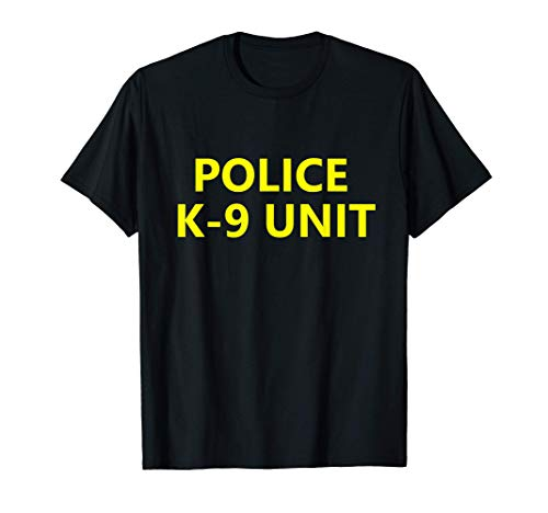 Halloween Police K-9 Unit Shirt Costume Officer Dog Canine T-Shirt