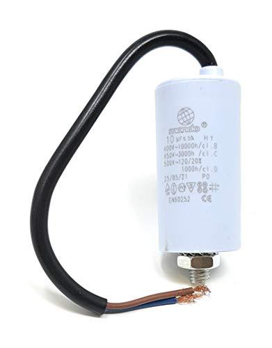 10 µF Start/Run Condensador con cable, 450V