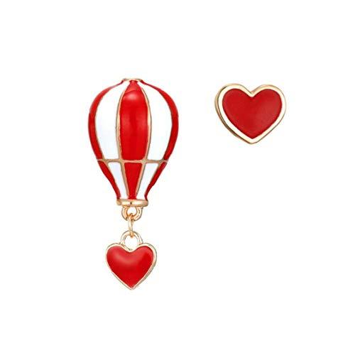 Joyería asimétrica Amor Globos de Aire Caliente Pendientes Irregulares del Perno Prisionero de los Pendientes de Gota para el Conjunto de joyería Mujeres Niñas 1Pair