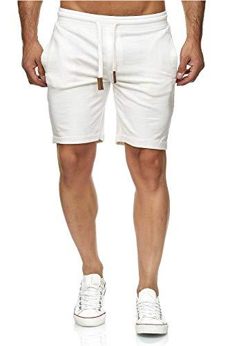 Indicode - Pantalones cortos de chándal Aldrich con interior de forro polar y cordón