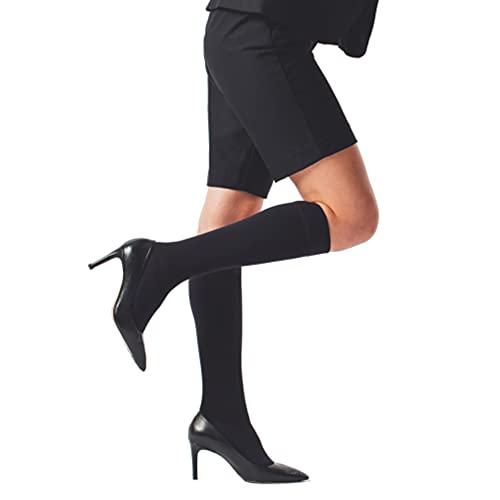medilast Kompressionsstrümpfe unisex in schwarz | One Size Kniestrümpfe mit Kompression für Damen und Herren