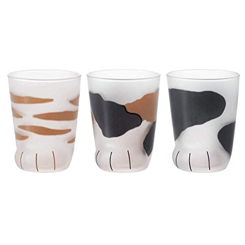 3 Stück Katzenkrallen-Tassen, kreative süße Katzenpfoten-Glas-Tasse, Tiger-Poten-Becher, Haushaltstassen, Büro, Persönlichkeit, Frühstück, Milchkaffeetasse, Geschenk