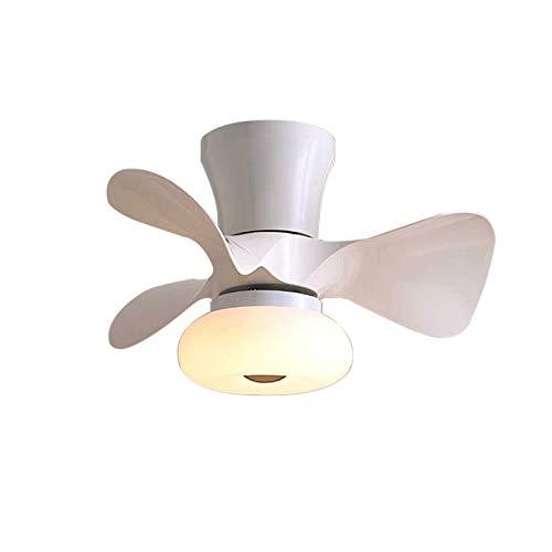 YIYUN Ventilatore da Soffitto con Luce E Telecomando Lampada Ventilatore Soffitto Creativo Dimmerabile con Timer 6 Velocita Piccolo 3 Pala Lampada Ventilatore Soffitto Bambini,Bianca