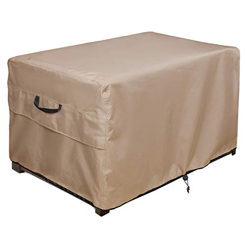 ULTCOVER Patio Deck Box Storage Bench Cover - Waterproof Outdoor Rectangular Fire Pit Table Covers 44 x 28 inch