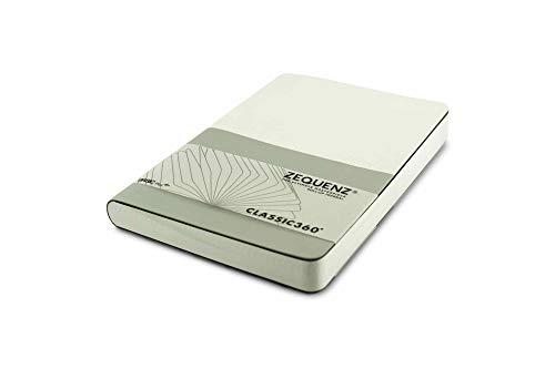 Zequenz Basic Plus 360 Notizbuch A5 Weiß-Silber Kariert-Blank