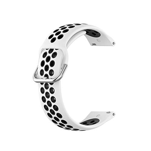 GZA Banda De Silicona Deportiva De 23mm para Versa Versa 2 Smart Watch Strap Correa Loop para Versa Lite Blaze Reemplazo De La Muñeca (Color : B, Size : For Fitbit Versa 1 2)