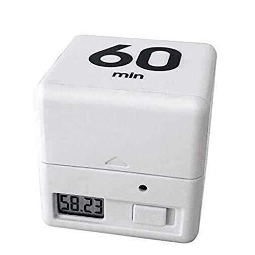Cube Küchen-Timer Das Wunder Cube Timer for Zeit Kinder Timer Workout Timer 1, 3, 5, 10, 15, 20, 30, 60 Timing Option (Color : 15 20 30 60min White)