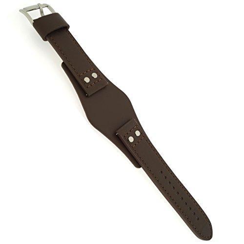 Fossil Uhrband Wechselarmband LB-CH2891 Original Ersatzband CH 2891 Uhrenarmband Leder 22 mm Braun