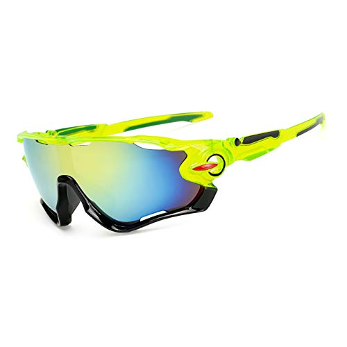 Gafas de sol polarizadas deportivas para hombres y mujeres, gafas de béisbol UV400 para ciclismo, correr, conducir, pesca, golf, béisbol con 3 lentes (5)
