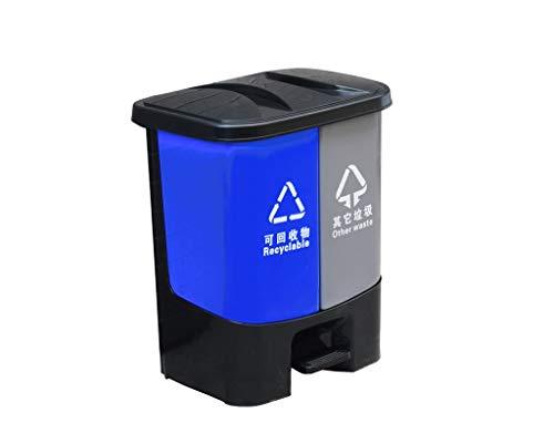 C-J-Xin Garbage Sorting Box, Haus Küche Schlafzimmer Badezimmer Recycling Bins mit Inneneimer Abnehmbarer leicht zu reinigen Dustbins Hohe Kapazität (Size : 43 * 30.5 * 32CM)