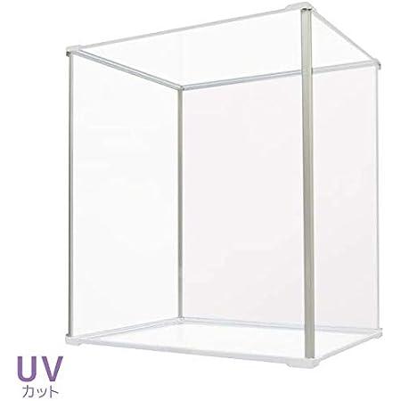 Fcase UVカット アクリルケース Fケース 上下透明アクリルタイプ (上下透明アクリル) UVタイプ(背面ホワイト)FCN-400344W5-UVWH