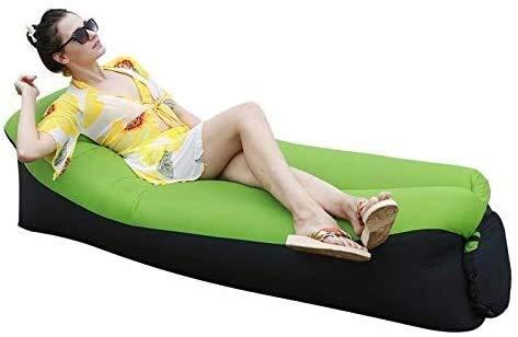 Cfbcc Schnell aufblasbares Luftschlafsofa im Freien Gartenmöbel Camping Wasserdicht fauler Schlafsäcke Faltbare Protable Air Sofa