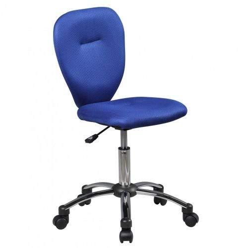 Amstyle Anna kinderbureaustoel, stof, blauw, 40x83x40cm