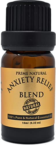 Prime Natural Anxiety Relief Essential Oil Blend 10ml /...
