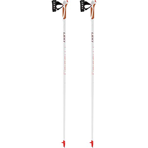 Leki Unisex - Bastones Passion Nordic Walking para Adultos, 6492525, Anthracite-Neon Red, 115