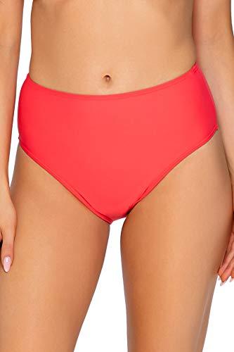 Sunsets Women's The High Road Full Coverage Bikini Bottom Swimsuit, Nectarine, Medium