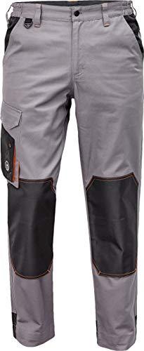 DINOZAVR Cremorne Herren Arbeitshose - Strapazierfähig Bundhose mit Knietaschen und Elastischem Bund - Grau 50