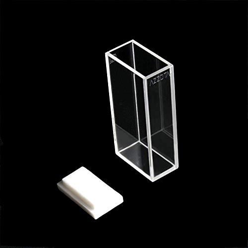 Azzota 20mm Pathlength Standard Fluorometer Cuvette - 7ml Glass, Four (4) sides clear