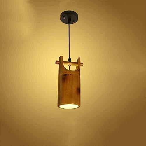 GDICONIC Lámpara de Mesa Candelabro de bambú Creativo Nueva Personalidad China Restaurante Bar Lámpara de Mesa Pasillo de café Patio Decorativo
