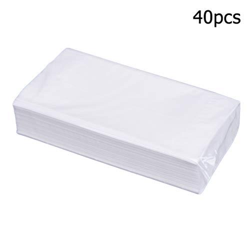 Garneck 40 Pack Hand Toilet Papier Dubbele Lagen Dikker Hout Pulp Servetten Tissue Handreinigingsdoekje Handdoekje voor Thuis Kantoor Badkamer Outdoor