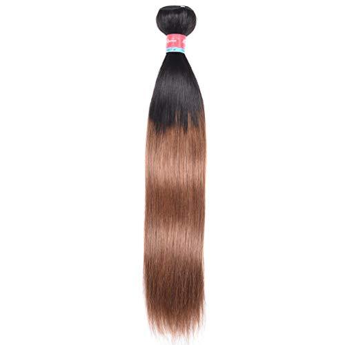 Puromi Hair Ombre T1B/30 Human Hair Weave Brown Color Brazilian Straight Hair 1 Bundle Unprocessed Virgin Hair Weft 2 Tone Hair